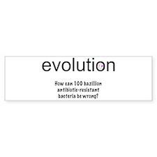 Evolution - bacteria Bumper Bumper Sticker