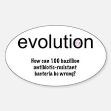 Evolution - bacteria Oval Decal