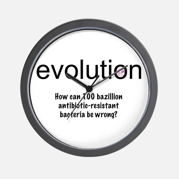 Evolution - bacteria Wall Clock