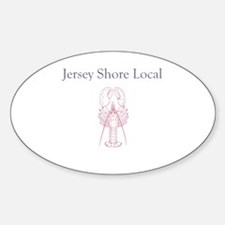 Jersey Shore Local Oval Decal
