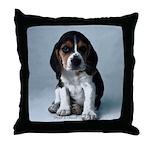 Adorable Basset Hound Puppy Throw Pillow
