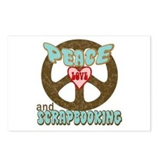 Peace Love and Scrapbooking Postcards (Package of