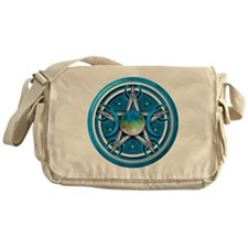 Blue Triple Goddess Pentacle Messenger Bag