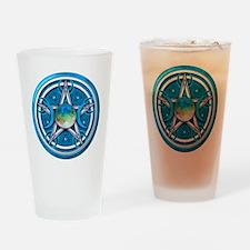 Blue Triple Goddess Pentacle Drinking Glass