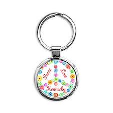 kentucky Round Keychain