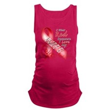 I Wear Red Because I Love My Wi Maternity Tank Top