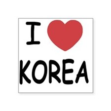 "KOREA Square Sticker 3"" x 3"""