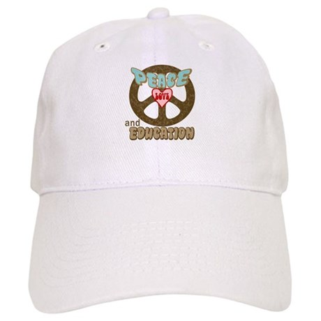 Peace Love and Education Cap