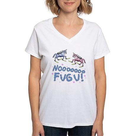 Charlie-D7-WhiteApparel Women's V-Neck T-Shirt