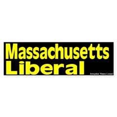 Massachusetts Liberal Bumper Bumper Sticker