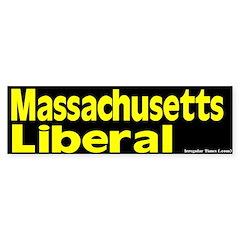 Massachusetts Liberal Bumper Bumper Sticker