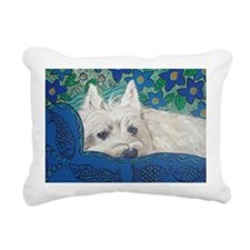 Westie4x6 Rectangular Canvas Pillow