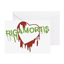 Rigamortis Logo 10x10 Greeting Card