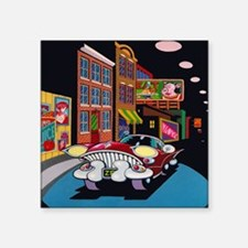 "Halsted Street Square Sticker 3"" x 3"""