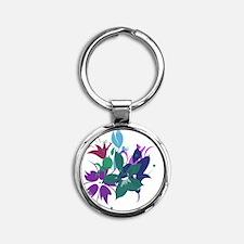 FlowerDesign2 Round Keychain
