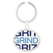 gritgrindgriz Oval Keychain