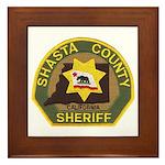 Shasta County Sheriff Framed Tile