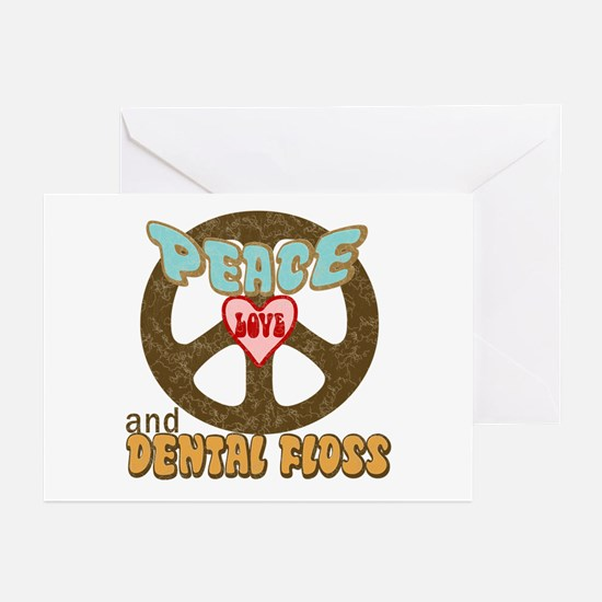 Peace Love and Dental Floss Greeting Cards (Packag