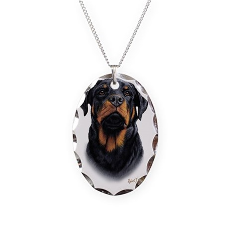 rottweiler 2 necklace oval charm by admin cp36653328