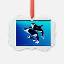 Wall Peel Orca Family Ornament