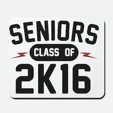 seniors-2K16-blk Mousepad