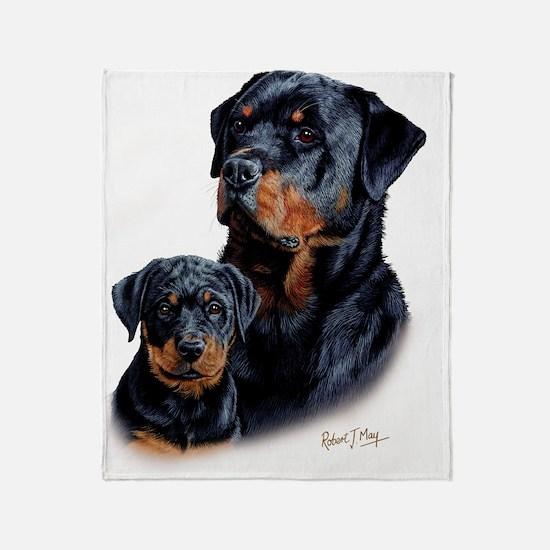Rottweiler  Pup Throw Blanket