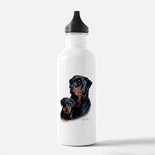 Rottweiler  Pup Water Bottle