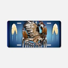 Wall Peel Flying Hawk Aluminum License Plate