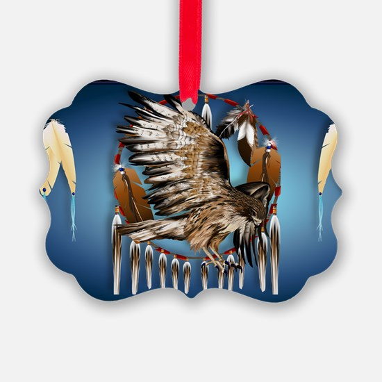 Wall Peel Flying Hawk Ornament
