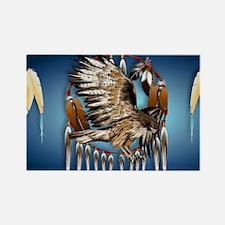 Wall Peel Flying Hawk Rectangle Magnet