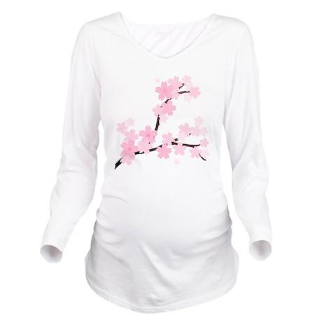 Sakura Long Sleeve Maternity T-Shirt