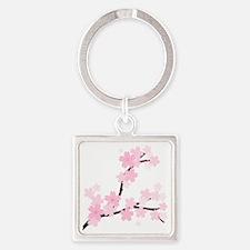Sakura Square Keychain