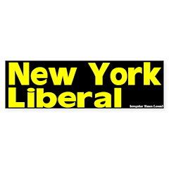 New York Liberal Bumper Bumper Sticker