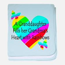 #1 GRANDDAUGHTER baby blanket