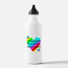#1 GRANDDAUGHTER Water Bottle