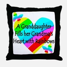 #1 GRANDDAUGHTER Throw Pillow