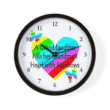 #1 GRANDDAUGHTER Wall Clock