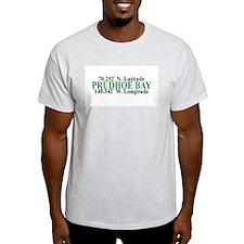 Prudhoe Bay Lat-Long Ash Grey T-Shirt
