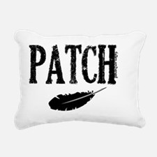 patch with feather trans Rectangular Canvas Pillow