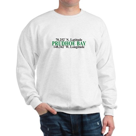 Prudhoe Bay Lat-Long Sweatshirt