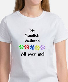 Vallhund Walks Women's T-Shirt