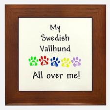 Vallhund Walks Framed Tile