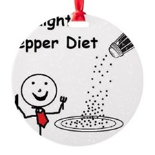 Straight Pepper Diet Ornament