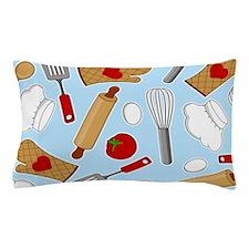 Cute Chef / Cook Love Pattern Blue Pillow Case