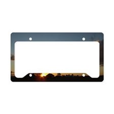 EatonOhFarmSunsetMiniPoster License Plate Holder