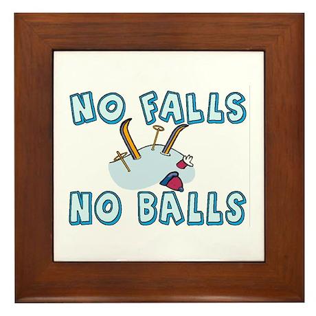 No Falls No Balls Framed Tile