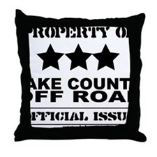 LCOR_OfficialIssue_Black Throw Pillow