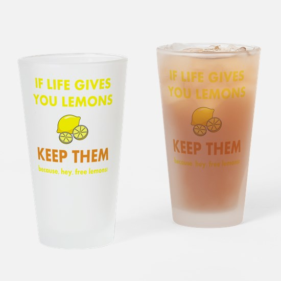 Keep Lemons Yellow Drinking Glass