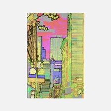 sanf_solar_pink_iPad Rectangle Magnet