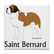 ColorSaintBernard Tile Coaster